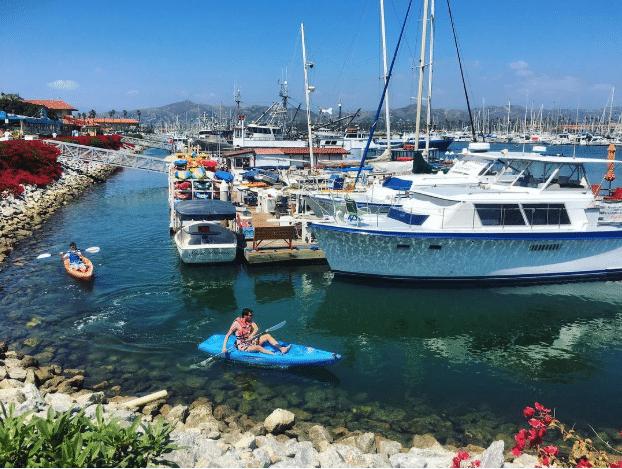 Kayak through Ventura Harbor